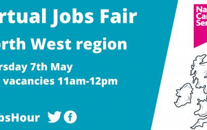 Virtual Jobs Fair North West region Thursday 7th May